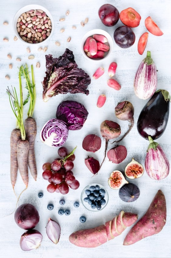 Purple fruit and veg