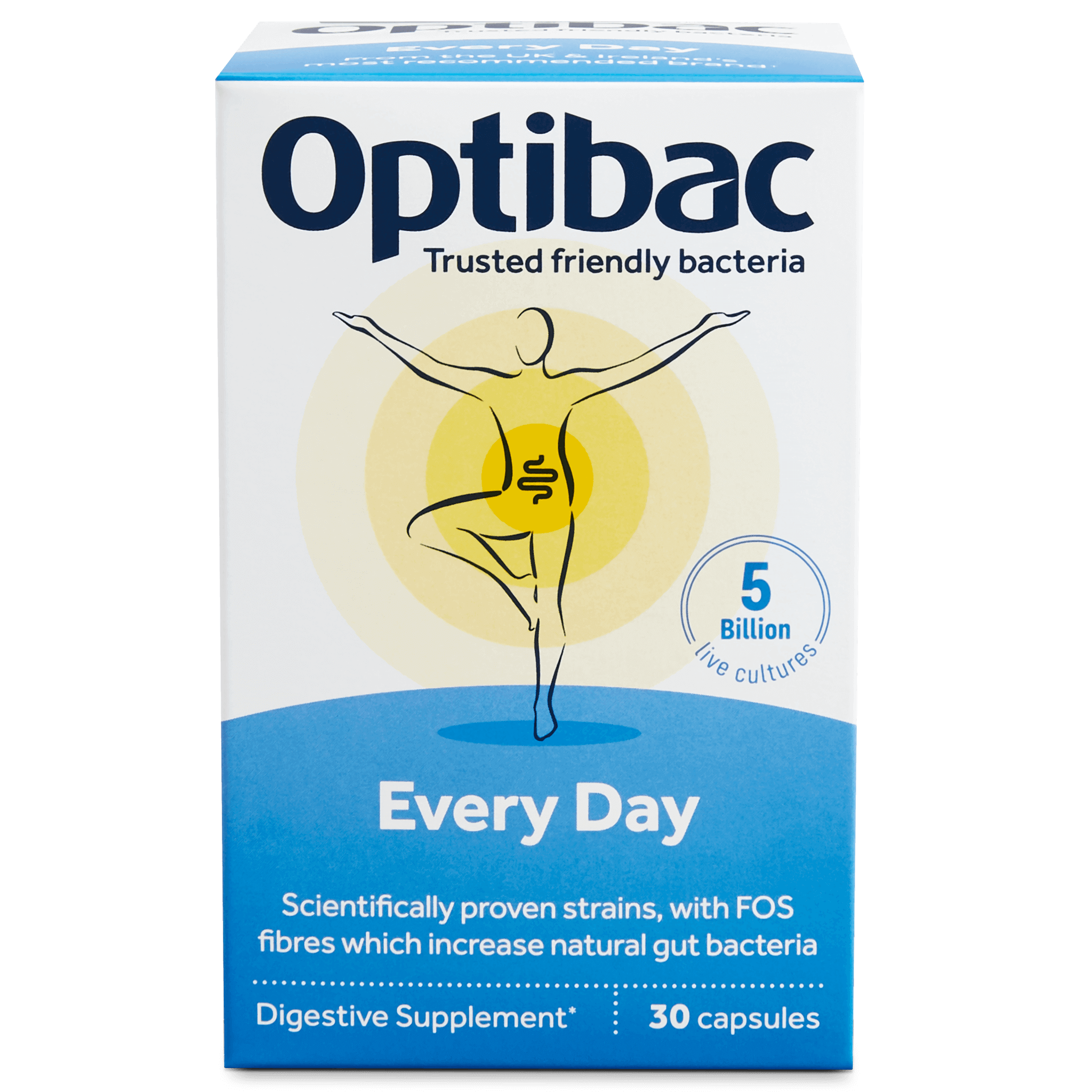 Optibac Probiotics UK | For every day | front of pack | 30 capsules