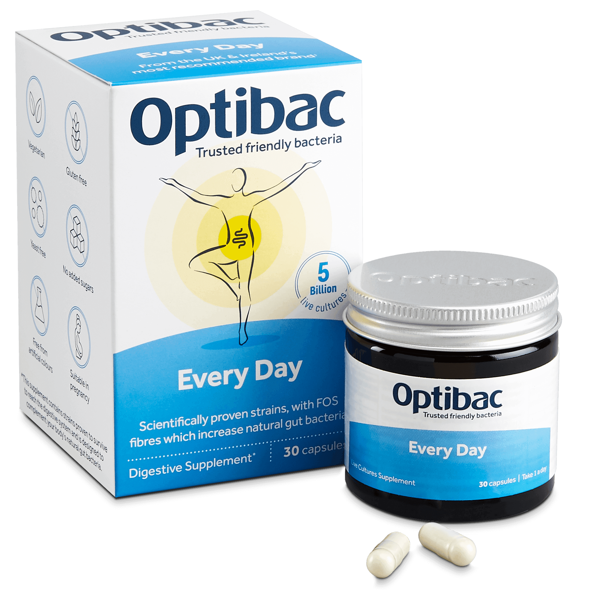 Optibac Probiotics UK | For every day | contents | 30 capsules