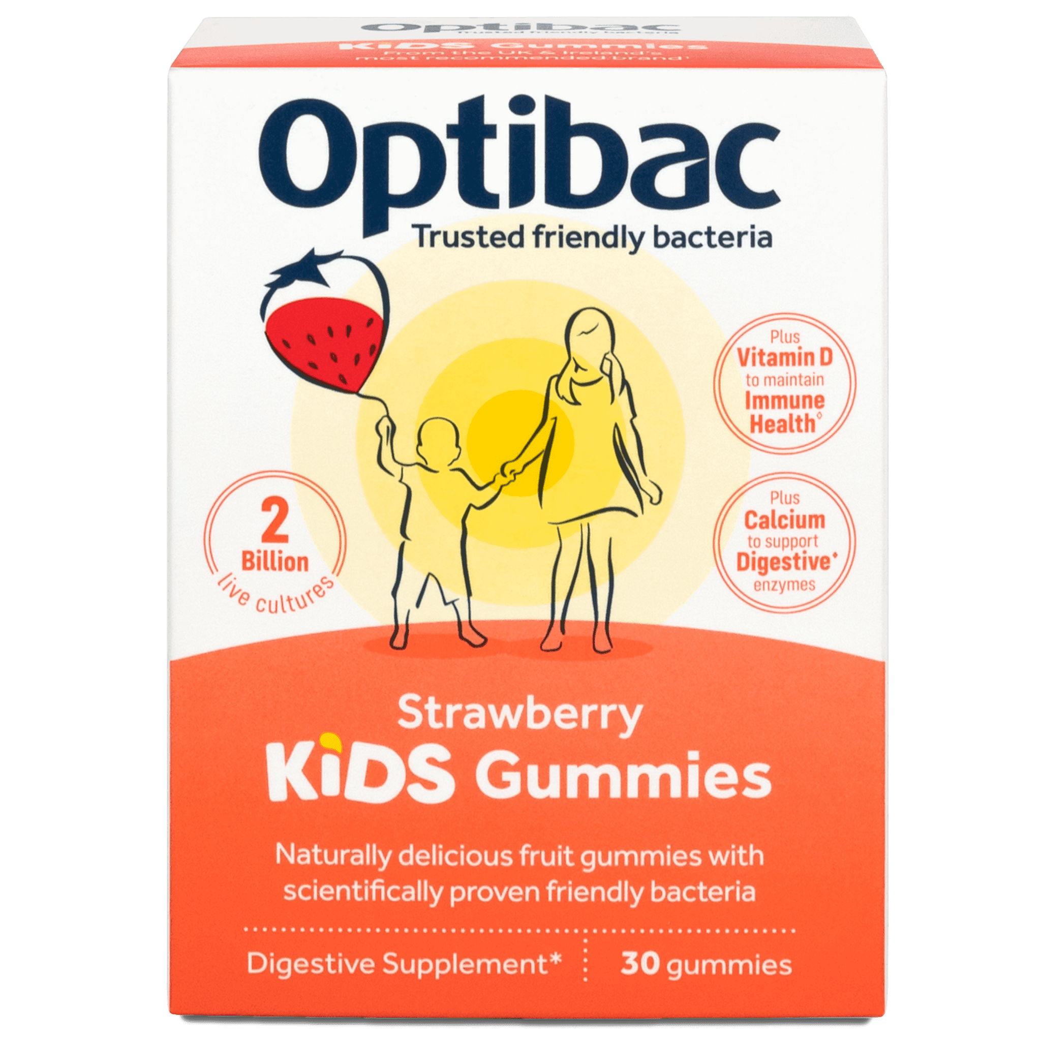 Optibac Probiotics | Kids Gummies | front of pack | 30 gummies