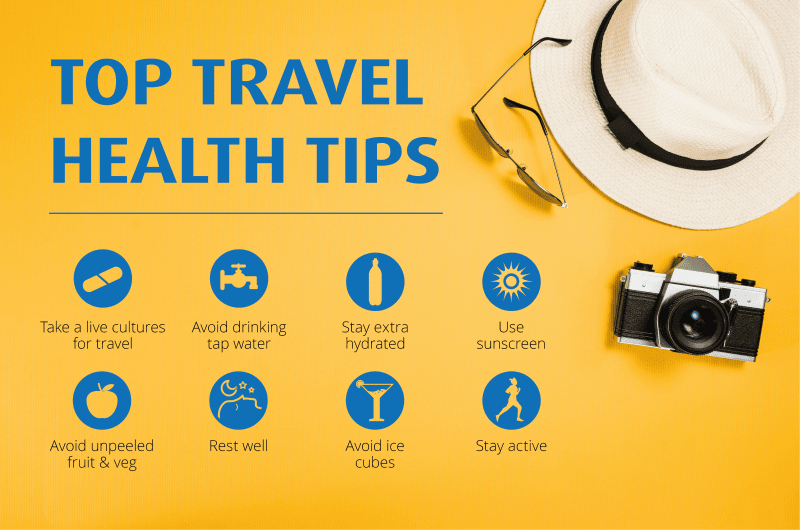 top travel health tips