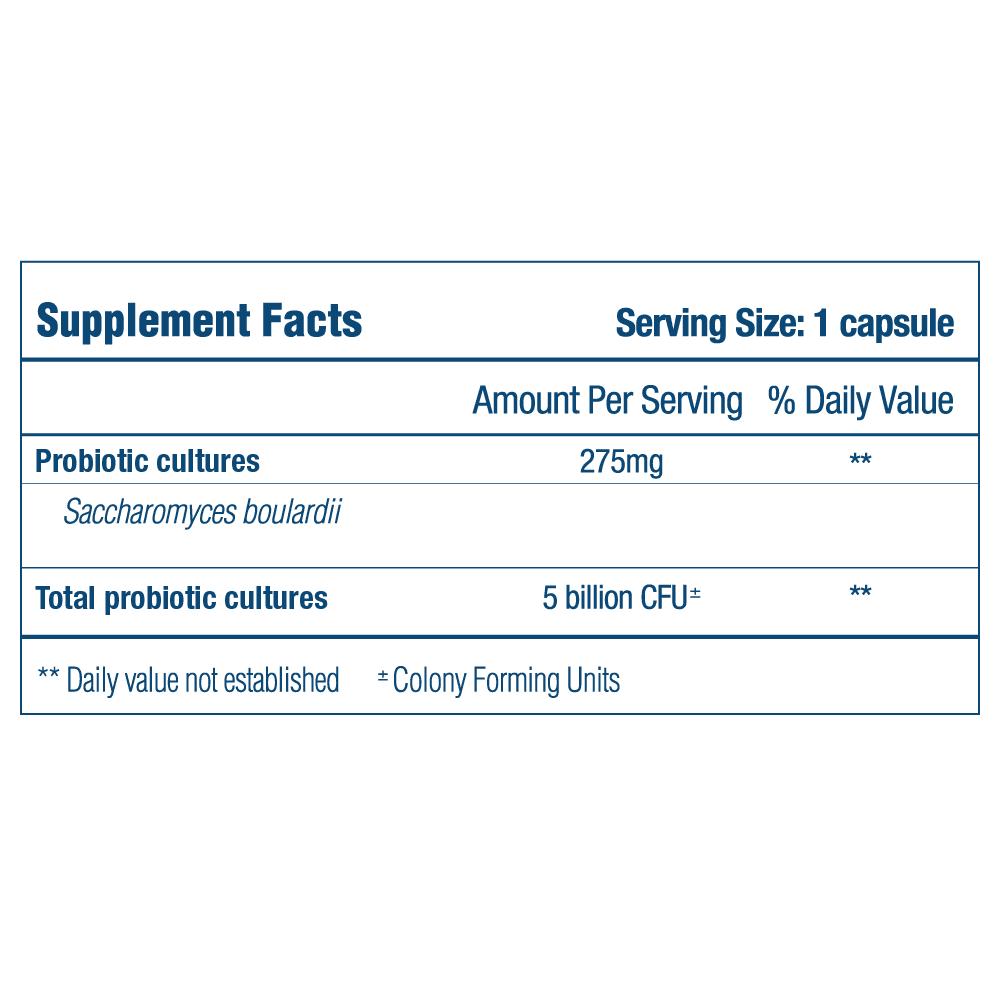 saccharomyces boulardii supplement fact panel